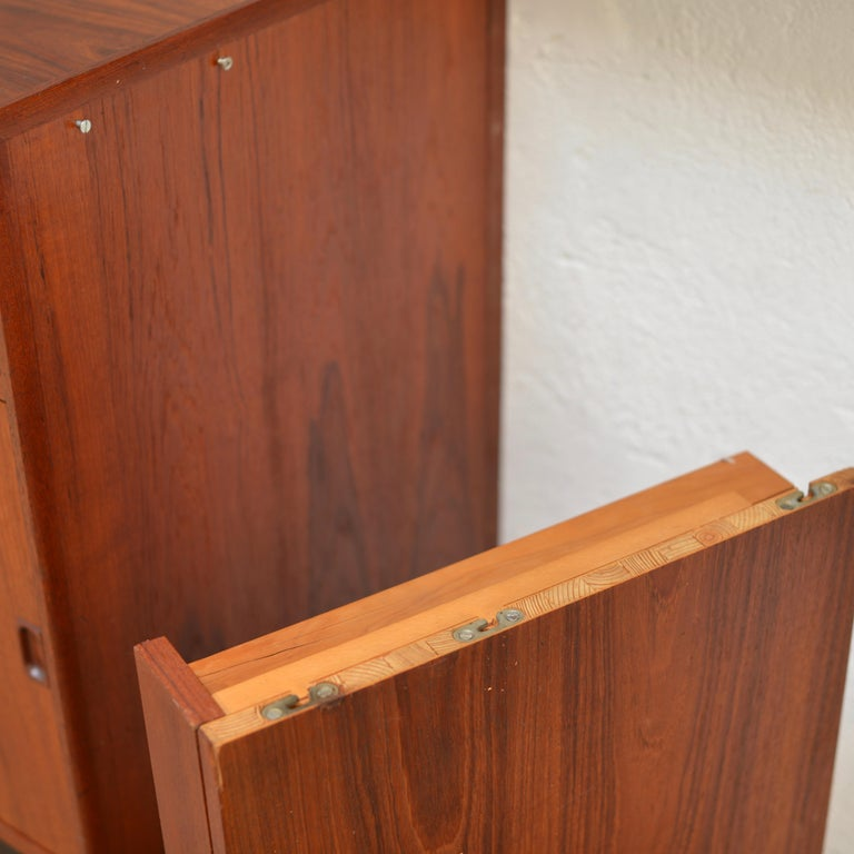 90 Piece Teak Wall Unit by Scandiline, Norway Customizable For Sale 5