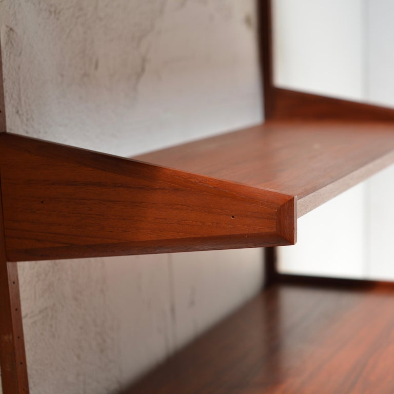 Mid-20th Century 90 Piece Teak Wall Unit by Scandiline, Norway Customizable For Sale