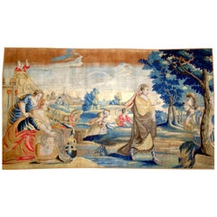 901 -  17th Century Tapestry of Soldier and Woman