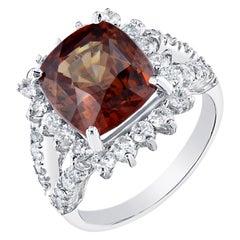 9.01 Carat Spessartine Diamond 14 Karat White Gold Cocktail Ring