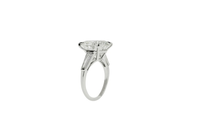 Round Cut 9.05 Carat GIA Certified Round Diamond Engagement Ring For Sale