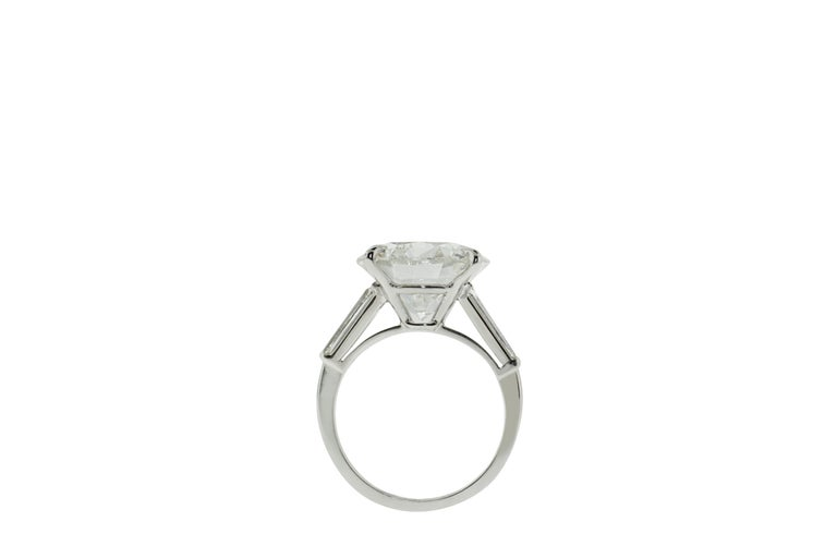 9.05 Carat GIA Certified Round Diamond Engagement Ring In New Condition For Sale In New York, NY