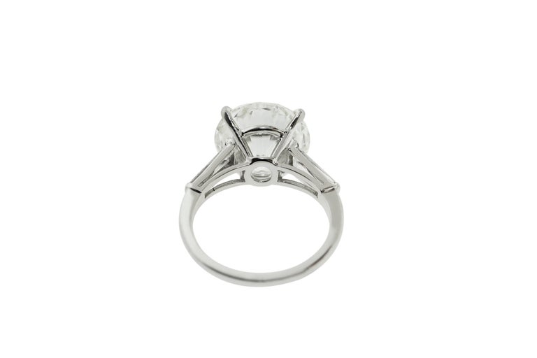 9.05 Carat GIA Certified Round Diamond Engagement Ring For Sale 1
