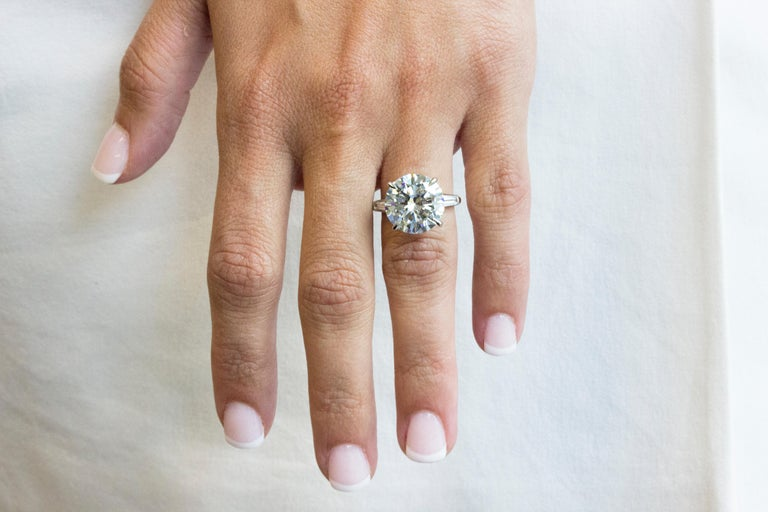 9.05 Carat GIA Certified Round Diamond Engagement Ring For Sale 2
