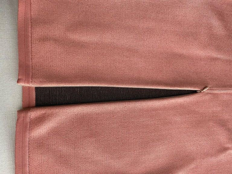 90s ALAIA pink diamond harlequin print viscose dress For Sale 1