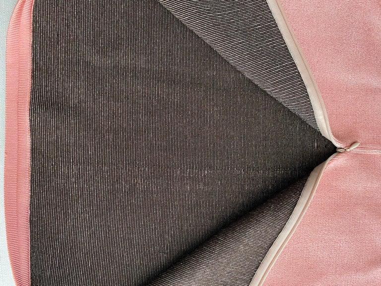 90s ALAIA pink diamond harlequin print viscose dress For Sale 2