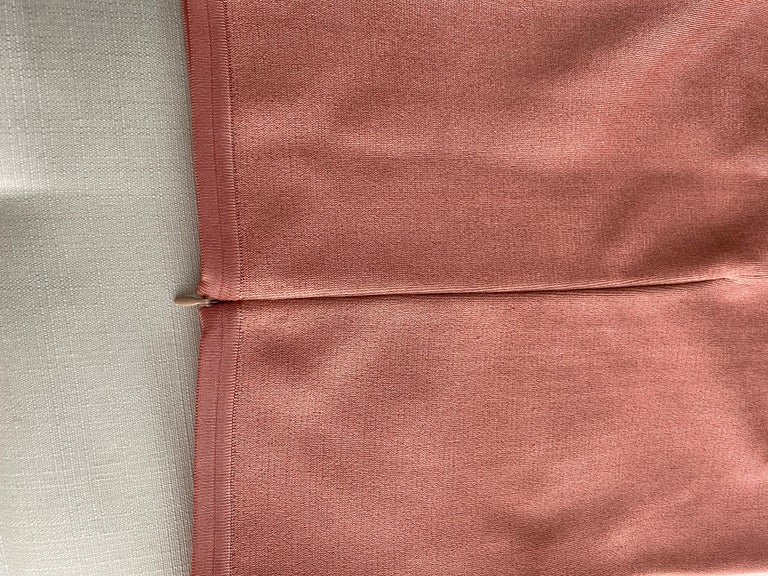 90s ALAIA pink diamond harlequin print viscose dress For Sale 3