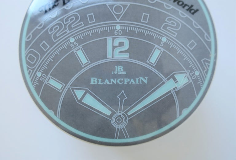 Glazed 1990s Blancpain Watch or Jewelry Box For Sale