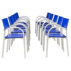 90s Carlo Bartoli 'Breeze' Dining Chair for Segis, Set/10