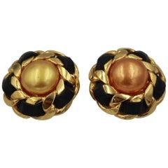 90's Chanel Golden  Vintage Earrings by Victoire de Castellane