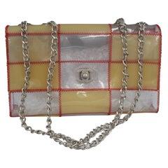 90's Chanel Timeless 25 Handbag  in Plexi