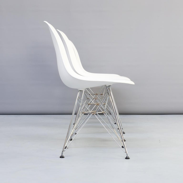 German 1990s Charles & Ray Eames 'Dsr' Dining Chair for Vitra, Set of 4 For Sale