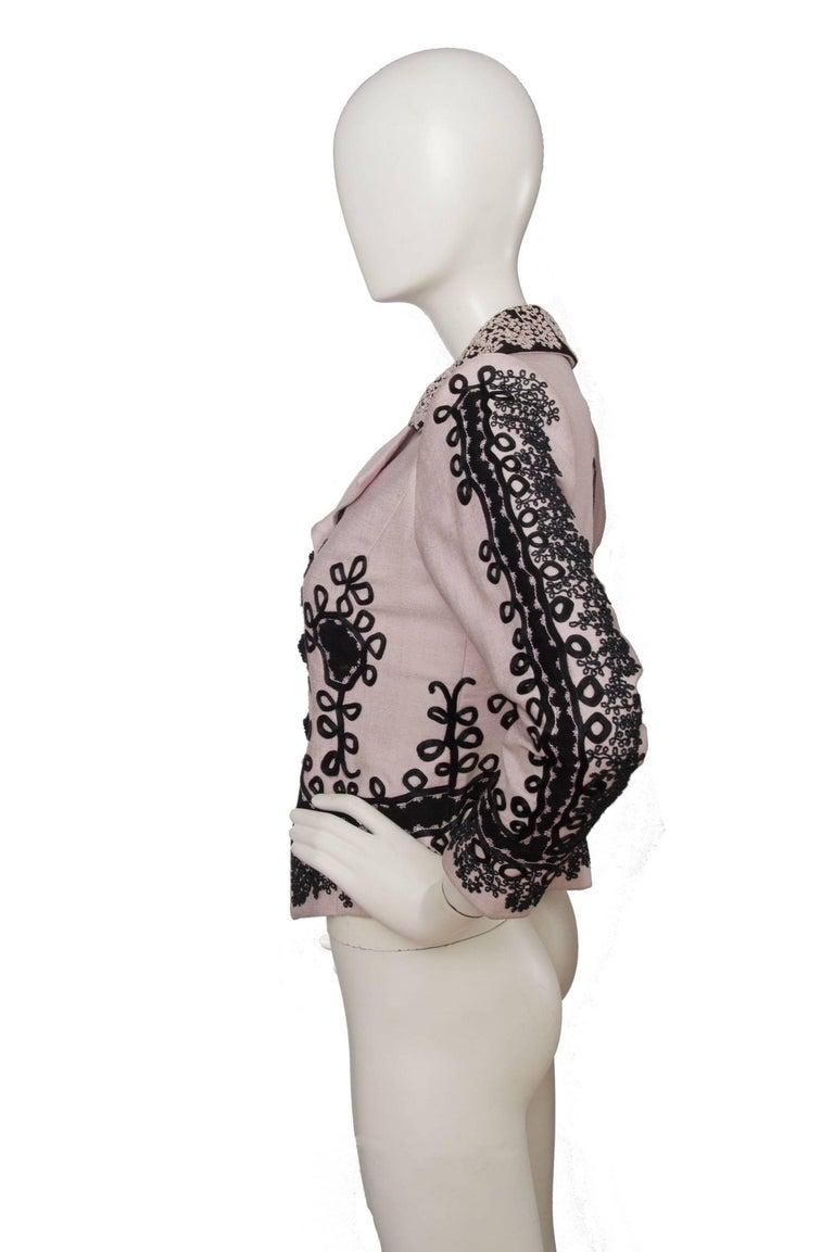 90s Christian Lacroix Lavender Haute Couture Blazer In Excellent Condition For Sale In Copenhagen, DK