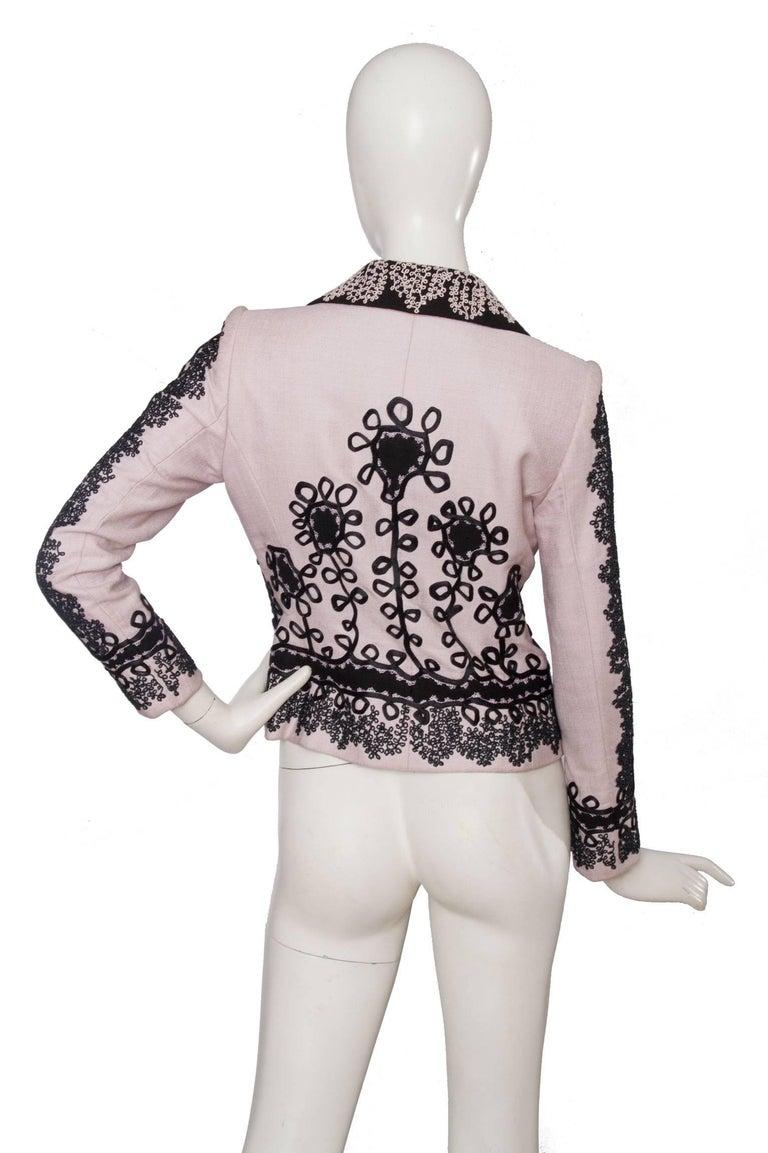 Women's 90s Christian Lacroix Lavender Haute Couture Blazer For Sale
