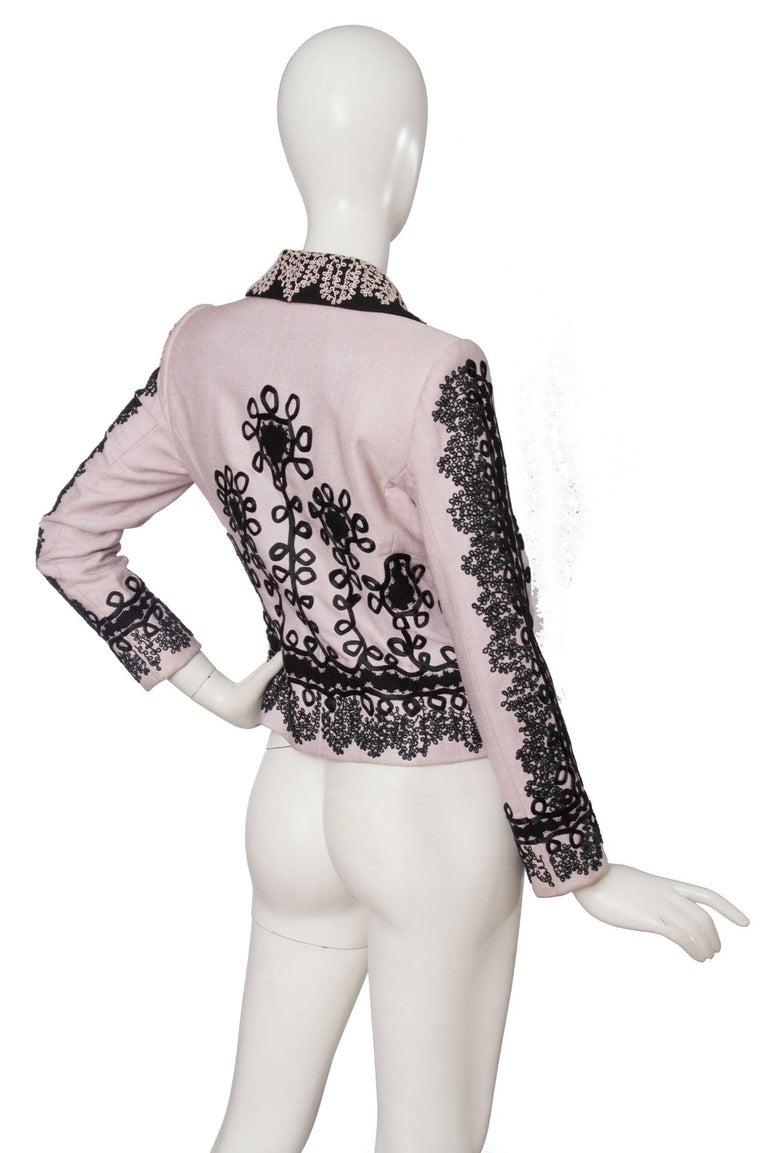 90s Christian Lacroix Lavender Haute Couture Blazer For Sale 1