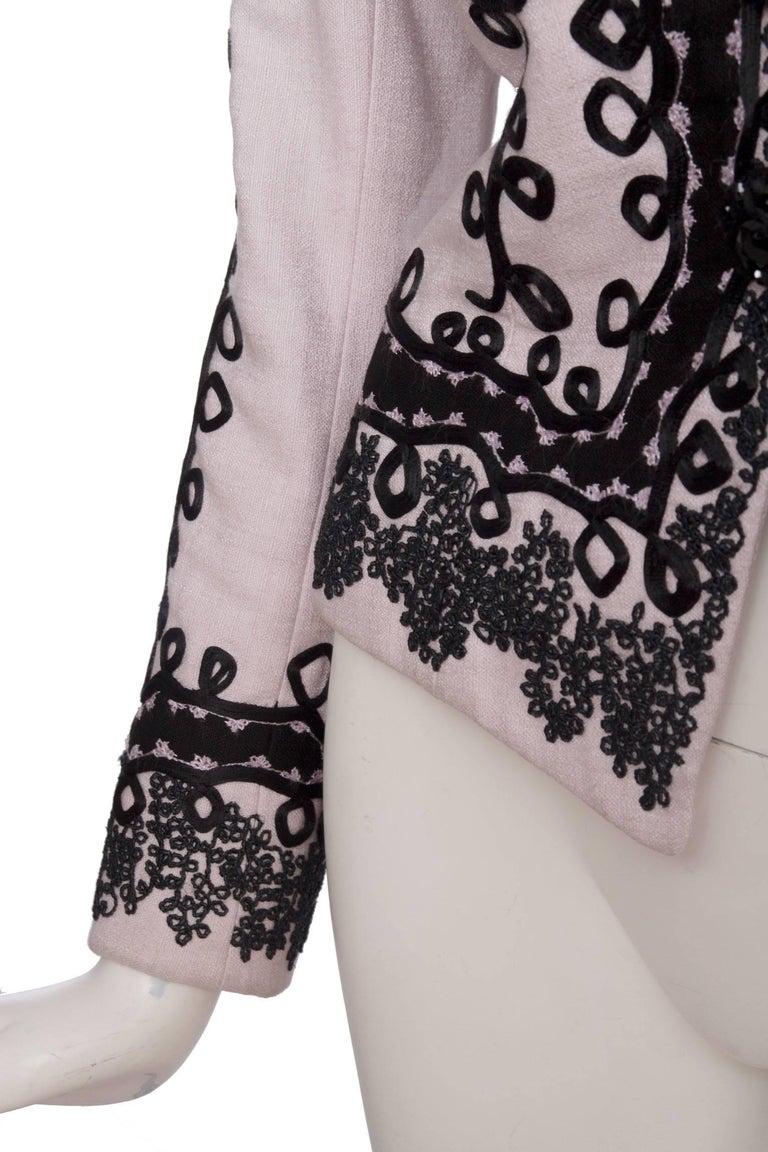 90s Christian Lacroix Lavender Haute Couture Blazer For Sale 3