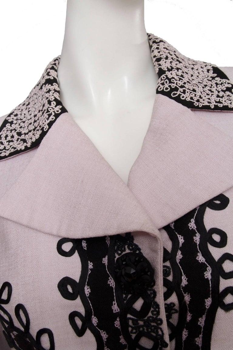 90s Christian Lacroix Lavender Haute Couture Blazer For Sale 5