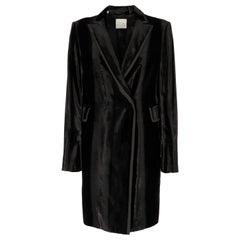 90s Costume National Black Velvet Vintage Coat