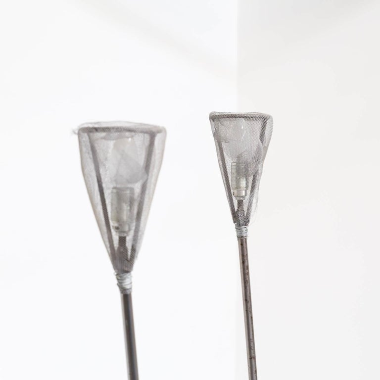 1990s Early Edition Metal Floor Lamp for Baxter, Set of 2 For Sale 1