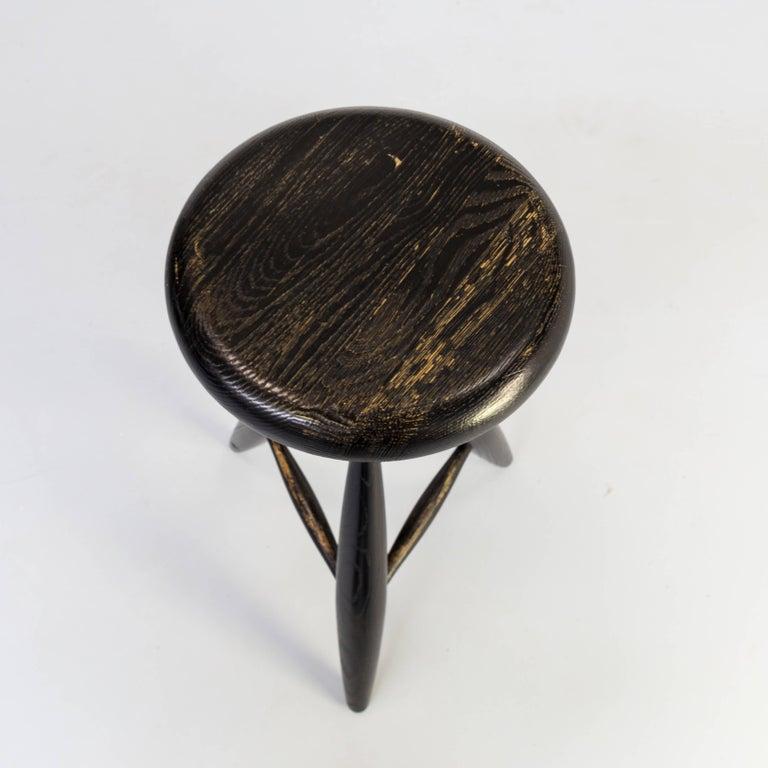 1990s Eero Aarnio 'EA001' Black Stool for Artek Set/4 For Sale 6