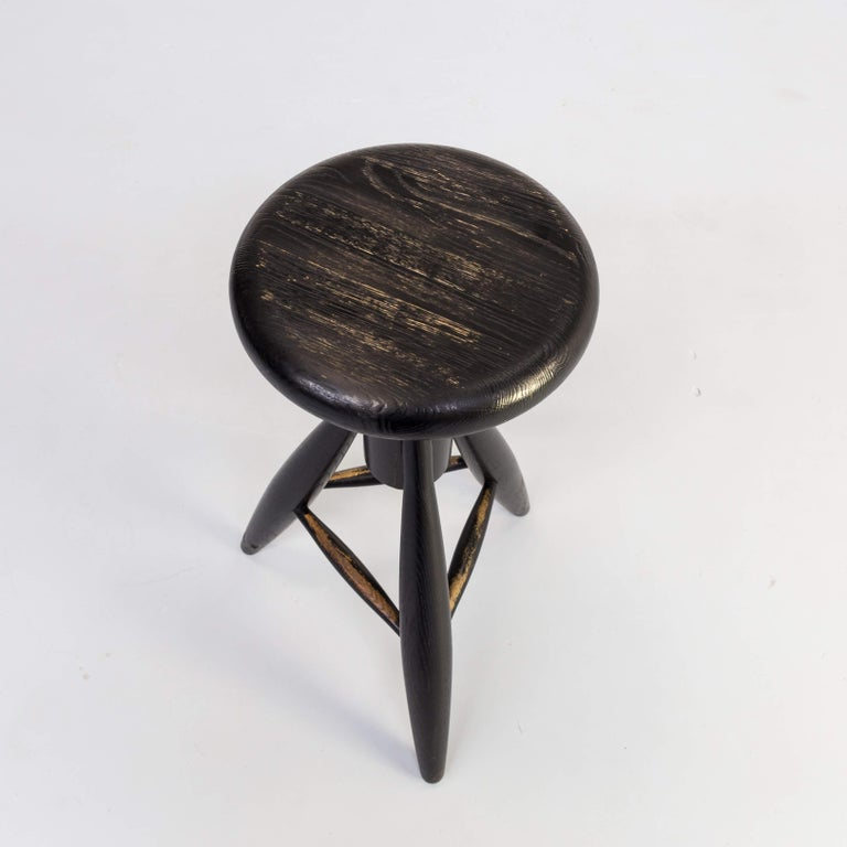 1990s Eero Aarnio 'EA001' Black Stool for Artek Set/4 For Sale 7