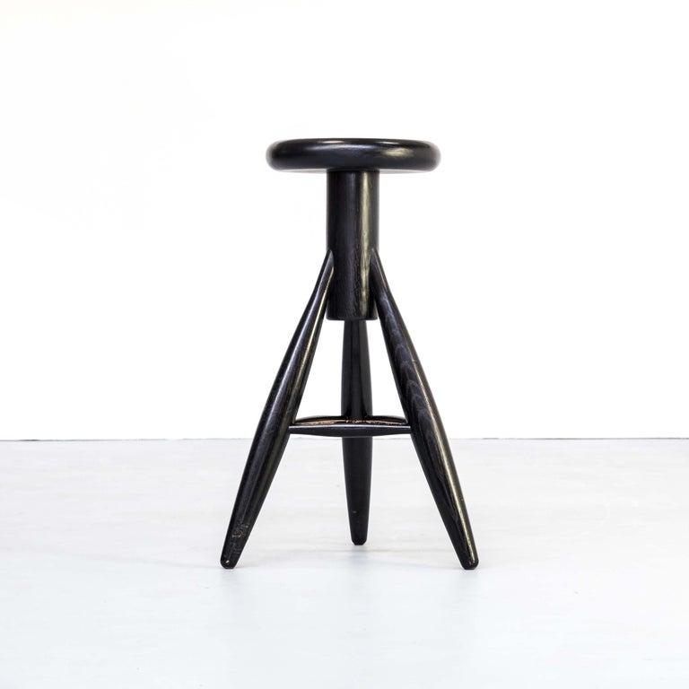 1990s Eero Aarnio 'EA001' Black Stool for Artek Set/4 For Sale 1