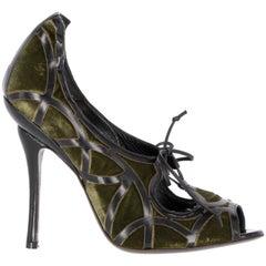 90s Emporio Armani Velvet Sandals