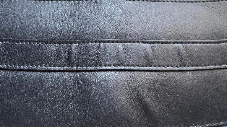Women's or Men's 90's Gianni Versace Corset Belt Leather & Metal For Sale