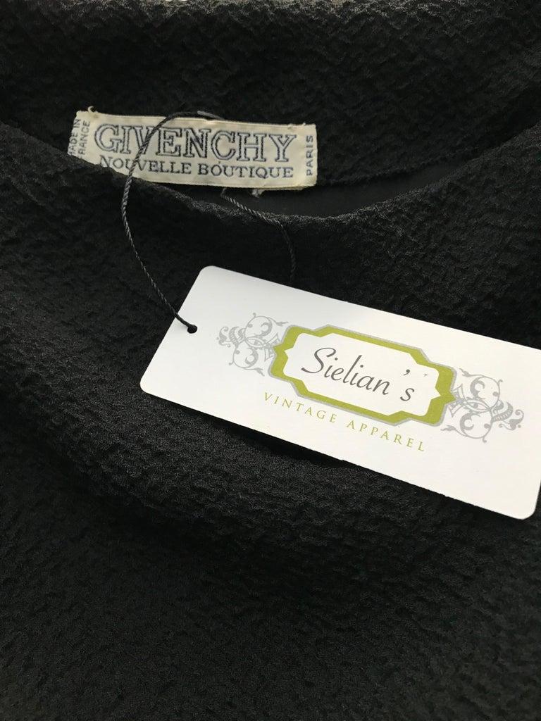 90s Givenchy Black Silk Matelasse One shoulder Cocktail Dress  For Sale 1