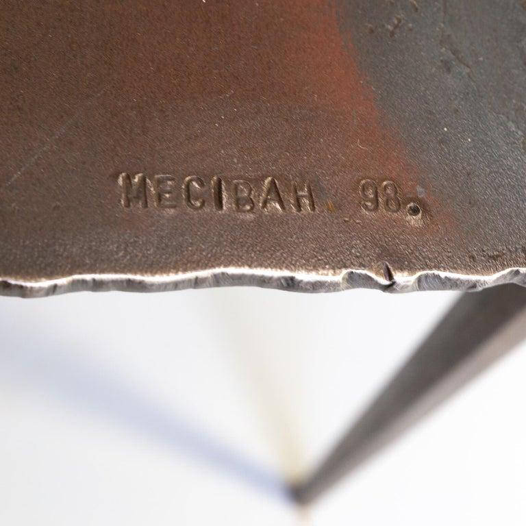 1990s Indir Mecibah Solid Metal Artwork Coffee Table for Smederij Moerman For Sale 4