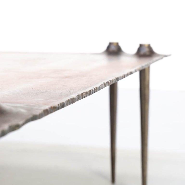 1990s Indir Mecibah Solid Metal Artwork Coffee Table for Smederij Moerman For Sale 5