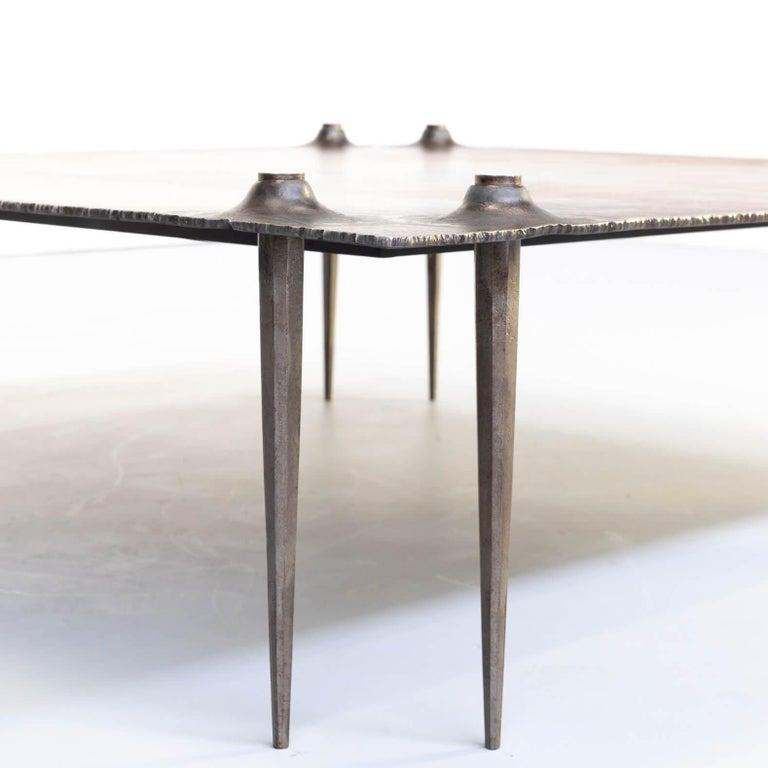 1990s Indir Mecibah Solid Metal Artwork Coffee Table for Smederij Moerman For Sale 6