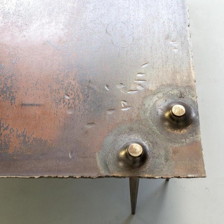 1990s Indir Mecibah Solid Metal Artwork Coffee Table for Smederij Moerman For Sale 7