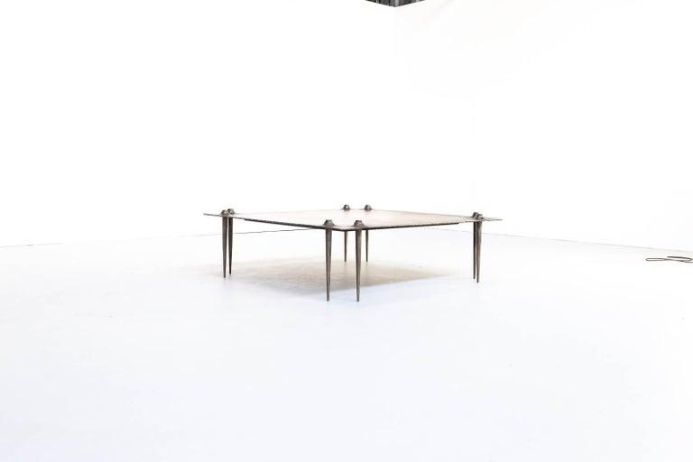 Belgian 1990s Indir Mecibah Solid Metal Artwork Coffee Table for Smederij Moerman For Sale