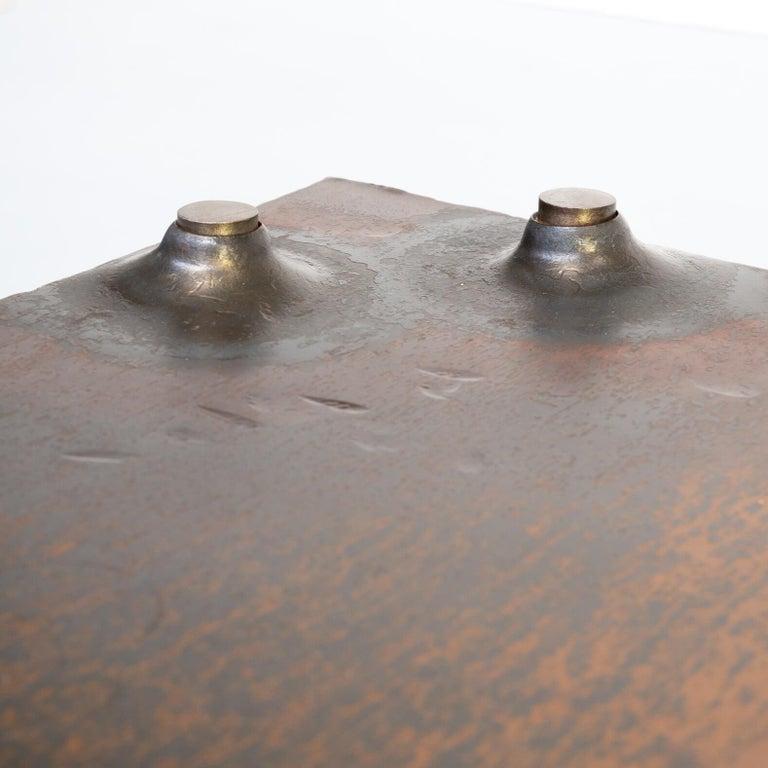 1990s Indir Mecibah Solid Metal Artwork Coffee Table for Smederij Moerman For Sale 3