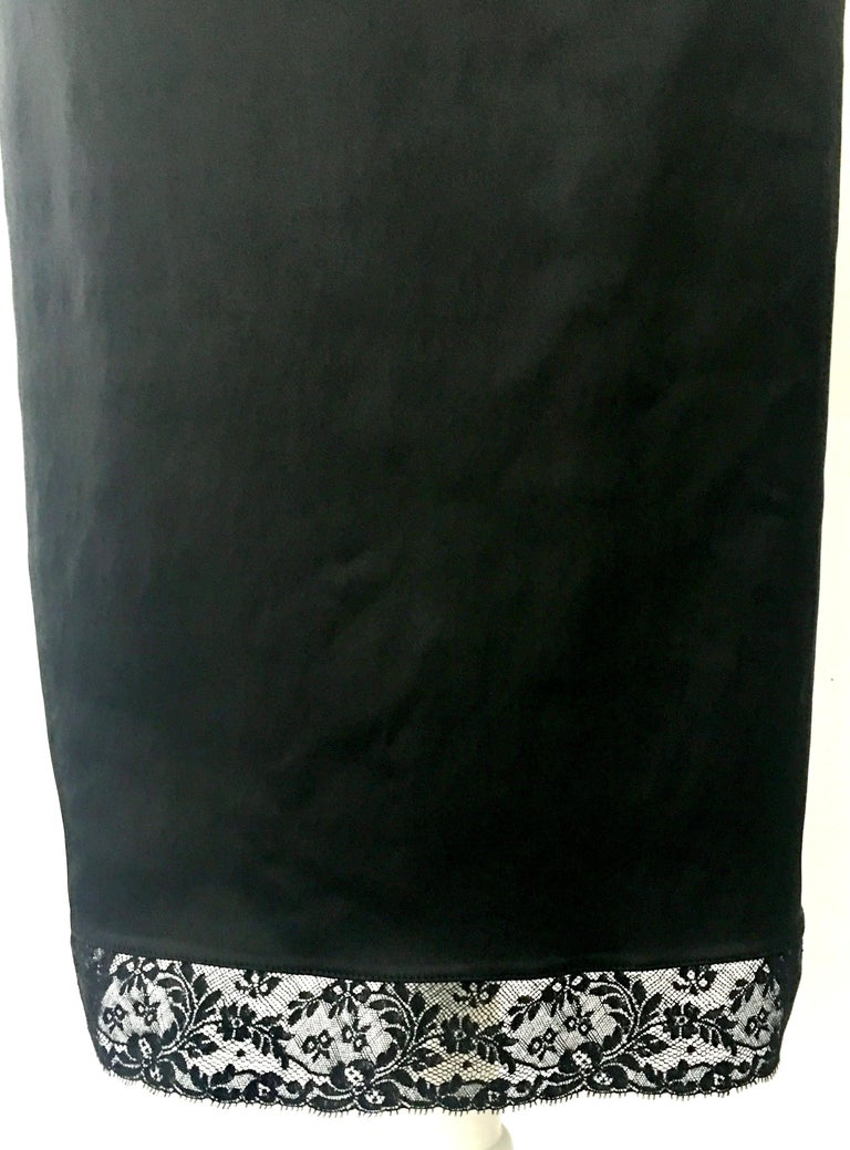 90'S Italian  Dolce & Gabbana Black Fitted Slip Style Dress Sz-46 For Sale 10
