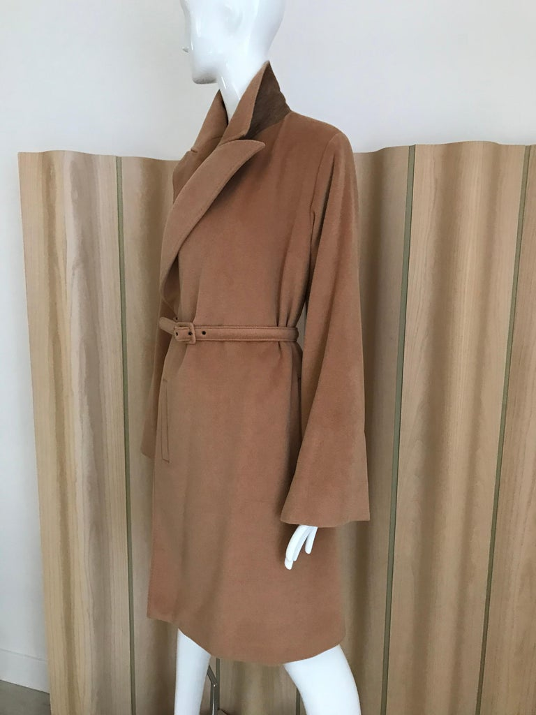 Brown 90s Jean Paul Gaultier Wrap Around Soft Cashmere Coat  For Sale