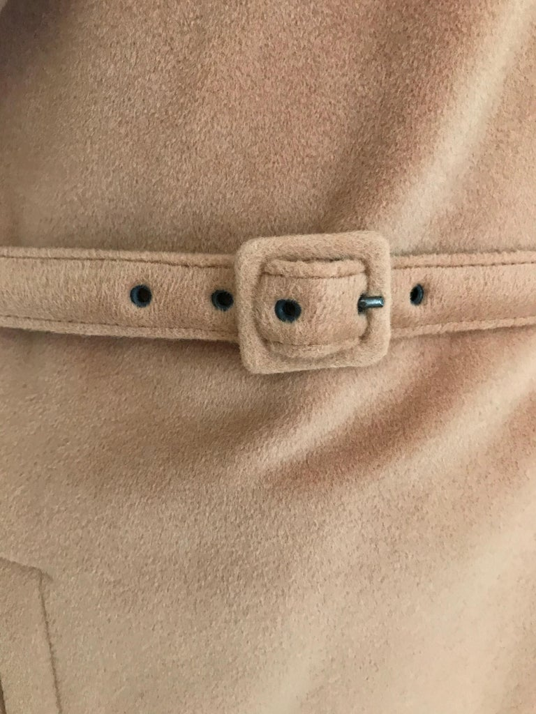 90s Jean Paul Gaultier Wrap Around Soft Cashmere Coat  For Sale 1