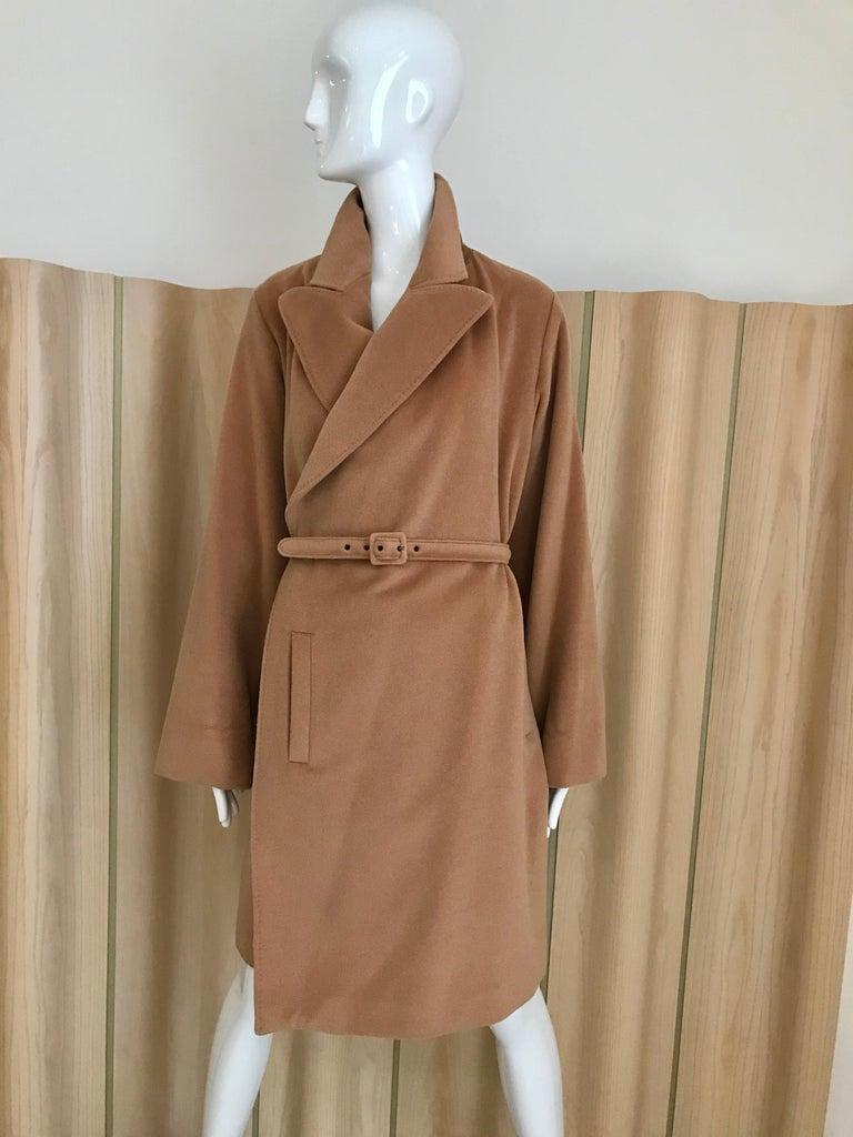 90s Jean Paul Gaultier Wrap Around Soft Cashmere Coat  For Sale 4