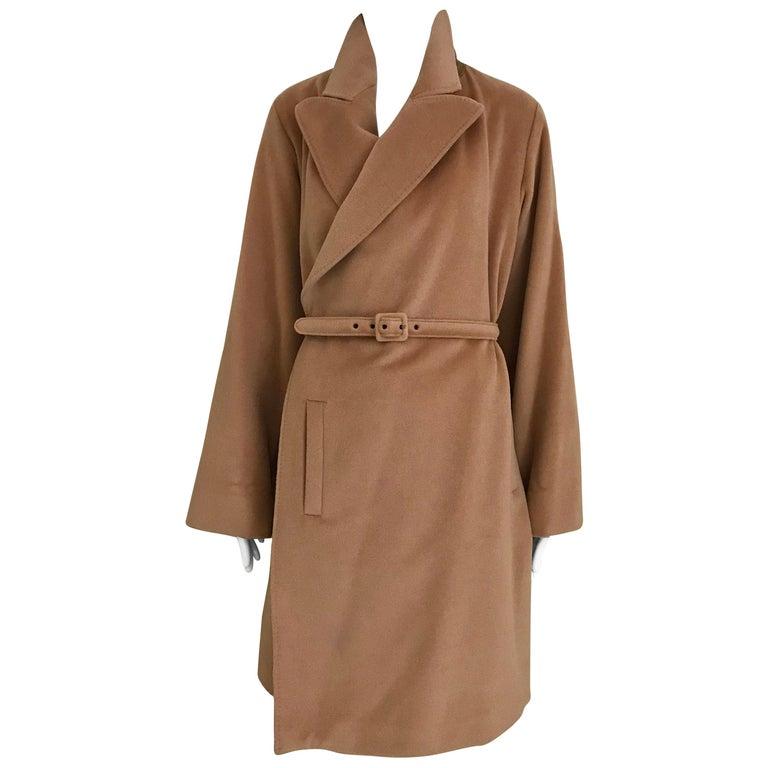 90s Jean Paul Gaultier Wrap Around Soft Cashmere Coat  For Sale