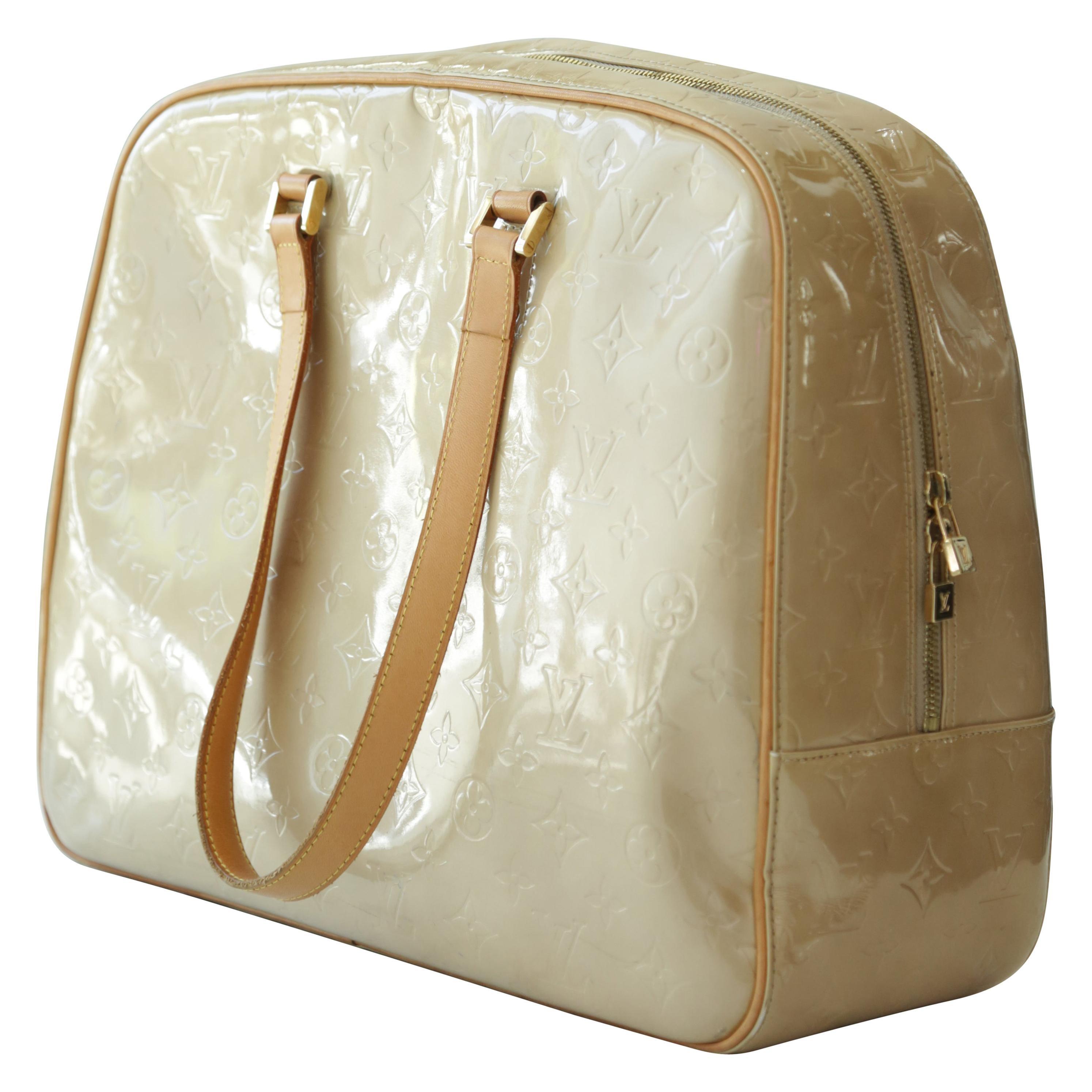 90s Louis Vuitton Vintage Patent Shoulder Carry-on Bag