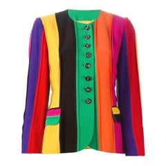 90s Moschino Couture! Multicolor Jacket