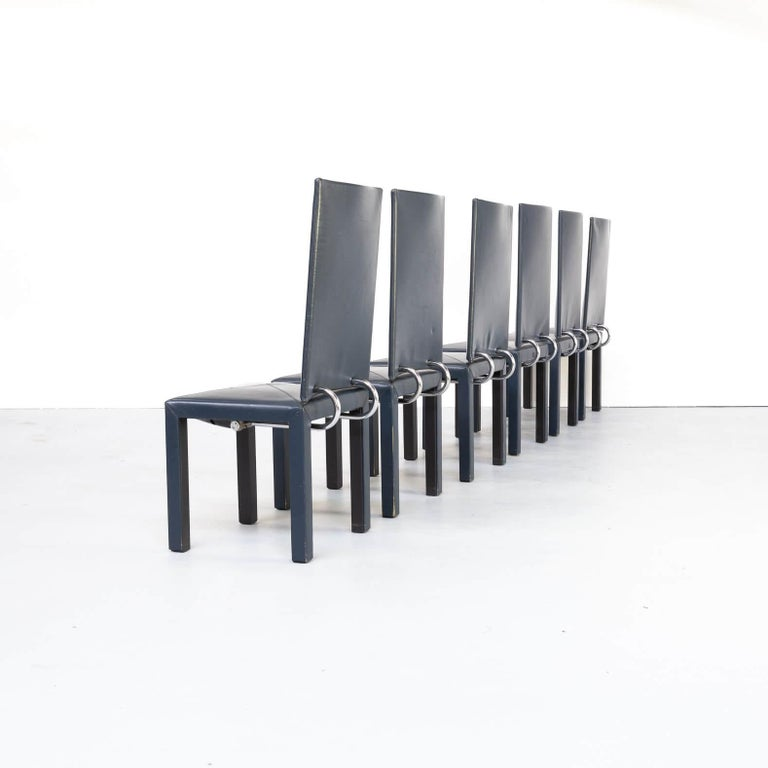Mid-Century Modern 90s Paolo Piva 'arcadia' dining chairs for B & B Italia set/6 For Sale