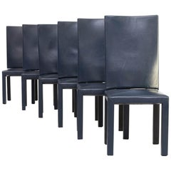 90s Paolo Piva 'arcadia' dining chairs for B & B Italia set/6