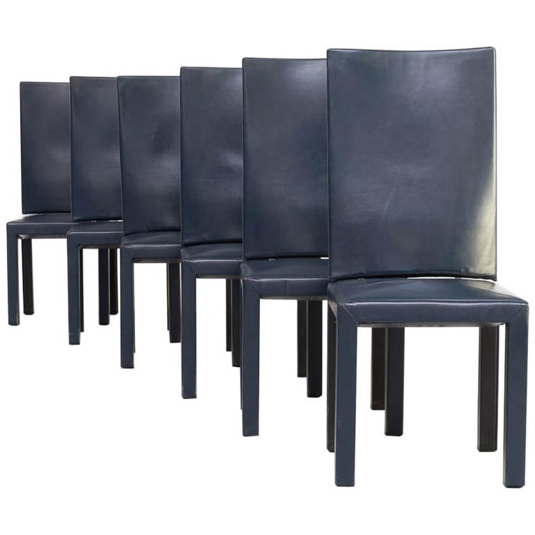 90s Paolo Piva 'arcadia' dining chairs for B & B Italia set/6 For Sale