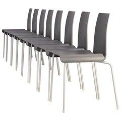 90s Uwe Fischer 'Tama' Metal and Acrylic Chair for B&B Italia Set/8
