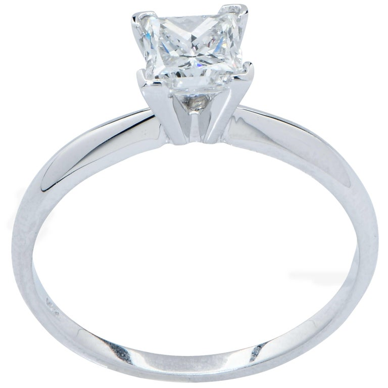 .91 Carat GIA Graded H / VS1 Princess Cut Diamond Engagement Ring In Excellent Condition In Coral Gables, FL