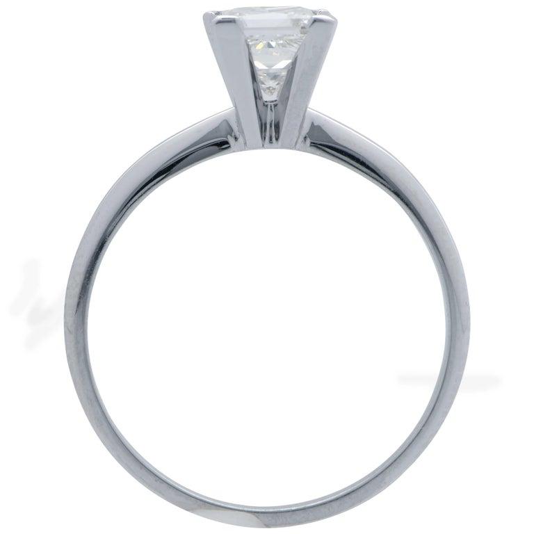 Women's .91 Carat GIA Graded H / VS1 Princess Cut Diamond Engagement Ring