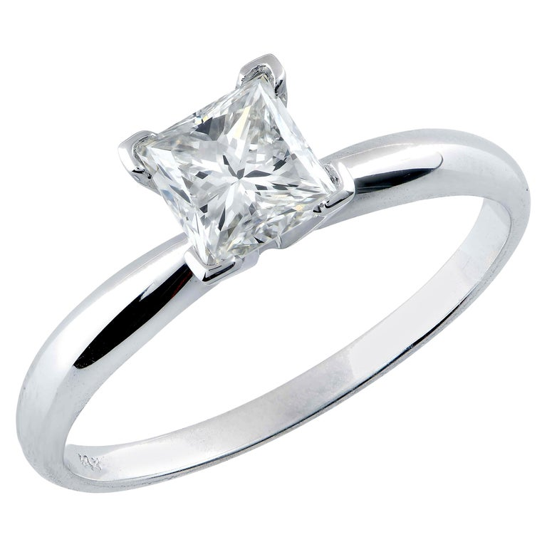 .91 Carat GIA Graded H / VS1 Princess Cut Diamond Engagement Ring