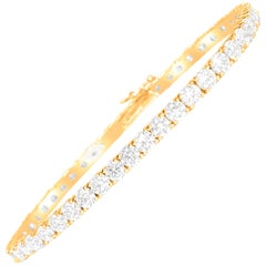 9.10 Carat Diamond Tennis Bracelet 14 Karat Rose Gold